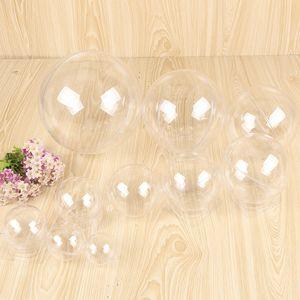 Çiçek Hediye Kutusu VT1788 Packaging Hollow Topu Düğün Şeker Asma Noel Süsler Yüksek Şeffaf Toplar Küre Yuvarlak Plastik