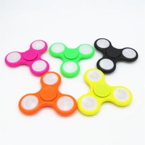 LED Luminoso Fidget Spinner Powder Switch Mano Fingerip Spinner Gyro Estilo EDC DECOMPRESIÓN TIENE DE ANSIEDAD CON PAQUETE MENOR