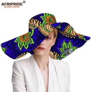 Women`s hats african print floral ladies hats ankara fabric wide brim hat wax batik bazin riche AFRIPRIDE A1928009 201013