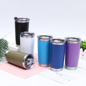 12 colors 20oz car Stainless Steel Tumbler Insulated Coffee Mug Thermal Cup With Seal Lids Vacuum home Drinkware T2I51686