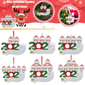 Персонализированные Выжил Семья (3) Украшение 2020 Рождество Праздничные украшения-Unique елки ПВХ Украшение-специального Keepsake