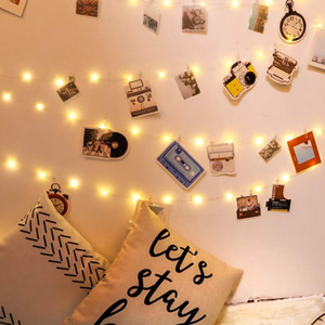 5m 10m Photo Clips String Lights Usb Powered Hanging Light For Cards Pictures Holder Teen Girl Gifts For Bedroom Decoration Swy jllewi