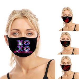 Máscara de moda Día de San Valentín Día de San Valentín Mascarillas para adultos XOXO transpirable a prueba de polvo Anti-polvo Ajustable Mask FY9338
