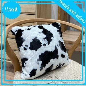 Black and white Cow long plush Fluff Home Decorative Sofa car bed Throw Pillows Cushion Cover Polyester Pillow case