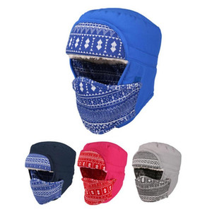 Men Women Winter Windproof Trapper Hat Warm Trooper Cap with Earflap Face Cover For hiking skiing snowboarding climbing fishing