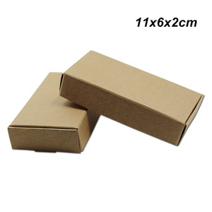 11x6x2cm 30 PCS Brown Kraft Paper Party Gifts Wrapping Box for Candy Baking Handmade Soap Storage Boxes Kraft Paper Box for Jewelry Ornament