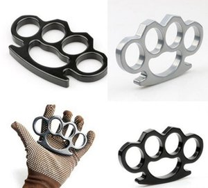 Silver And Black Thin Steel Brass Knuckle Dusters,self Defense Personal Security Women's And Men's Se jllxBN yyysports