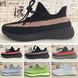 Adidas Yeezy 350V2 En V2 Kanye West Kuyruk Işık Ayakkabı Koşu Yecheil Yansıtıcı Dünya Beyaz Krem cüruf Spor Ayakkabıları Üçlü Çöl Adaçayı Sneaker ayakkabı c78