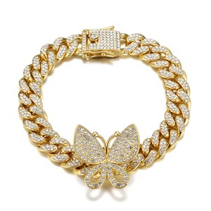 Charming Women Anklets Chains Gold Plated Bling Rhinestone Butterfly Anklets for Girls Women for Party Wedding Hot Gift