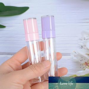 6.4ml Leere Lipgloss Flasche Rundrohr DIY Lippenstift Behälter Nachfüllbare Fläschchen Probenanzeige mit Gummistopper Rosa Lila