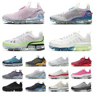 Zapatos nike air vapormax 2020 flyknit vapor max 360 airmax tn plus vapourmax off white Pure Platinum zapatillas deportivas para mujer para hombre Zapatillas deportivas negras