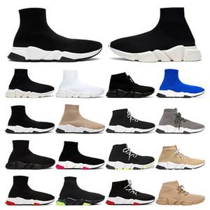 Tasarımcı Ayakkabı Hız Eğitmen Marka mavi siyah beyaz kırmızı Düz Moda mens bayan Çorap Çizmeler Sneakers moda Eğitmenler Koşucu boyutu 36-45