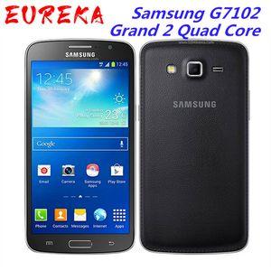 Original Unlocked Samsung G7102 Grand 2 Quad Core 5.25 Inches 8GB ROM 1.5 GB RAM 8MP GPS Refurbished Smartphone