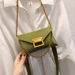 2020 Spring New Arrival Fashion Women's Waist Bags PU Chain Belt Bag Ladies Chest Bags Handy Fanny Pack Girl Solid Shoulder Bag LJ201023