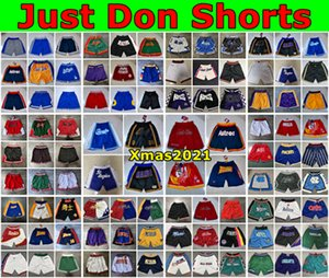 2021 MENS Just Don Shorts 96 Edición Malla Retra Auténtica Soltada Sólo Don Pocket Basketball Shorts Stitch City Equipos Nombre Año ID Etiquetas