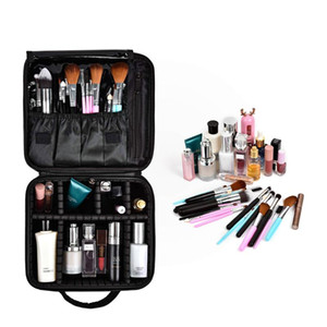 Travel Makeup Case Artist Storage Bag Make Up Tool Boxes Brushes Bags with Compartments Waterproof Detachable Vanity Organizer