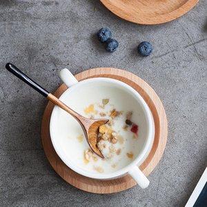 Cuillère en bois soupe à café de cuillère à café de porridge en bois massif cuillère miel café créatif japonais style vaisselle verte pour kicthen h bbyuxc