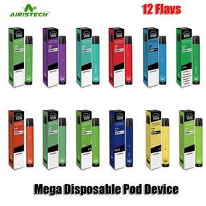 Authentic Airis Airis Mega Dispositivo Desechable Kit 2000 Puff Puff 1050mAh Batería 6ML POD VAPE POD VAPE PEN ORIGINAL VS BAR PLUS XXL