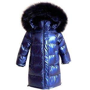 OLEKID 2020 пуховик для девочек Real Fur Водонепроницаемая Kid Девушки Зимнее пальто 5-14 лет Дети Подростки Верхняя одежда Parka