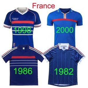 1998 jersey rétro Coupe du Monde France ZIDANE DESCHAMPS BLANC THURAM jersey millésime 1982 84 86 2000 HENRY TREZEGUET maillot de football classique