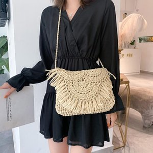 For Hot Bags Shoulder Summer Women Handmade Sale Tassel Woven 2021 Rattan Beach Handbags Straw Vacation Crossbody Clutch Ppmqg
