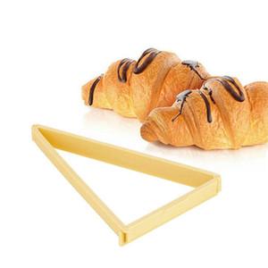 Herramientas de pastelería para hornear Cortador de croissant de plástico Rollo de molde Croissant Maker Máquina Línea Línea Molde Molde Hoja de Cocina Gadgets