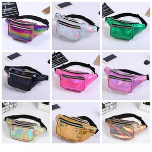 11styles Girls laser Waist bag Colorful Beach Travel Pack Fanny pack handbag Girls Belt Purse Outdoor Holographic Cosmetic Bags FFA1419