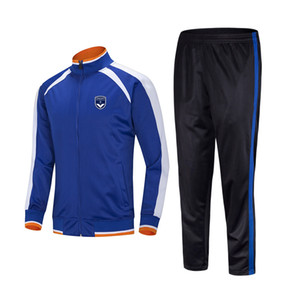 20-21 FC Girondins de Bordeaux Top Soccer sports Kids football tracksuits Running suit outdoor training sets Men's Sportwear