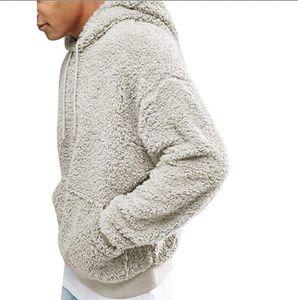 Winter Warm Hoodie Pullover Men Casual Loose Hoodies Hip Hop Black Gray Green Long Sleeve Men Hoodies Sweatshirts