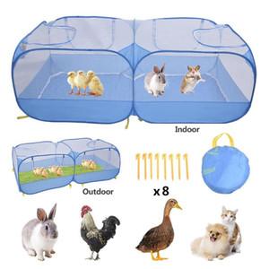 Складное домашнее животное Playpen упражнение клетки на открытом воздухе сетчатая крышка оттенка портативная собака палатка садовая утка забор питомника кошка гнездо