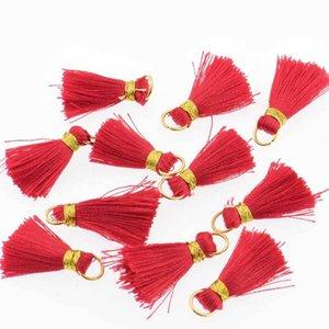 30pcs Mini Polyester Silk Tassel DIY Boho Bijoux Faire fournitures Collier Bracelet Trouver Fringe Trim Pendentifs Petits Tassels H Jllhxb