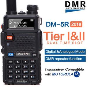 Walkie Talkie 2021 Baofeng DM-5R 플러스 디지털 DMR Tier1 Tier2 Tier II 듀얼 타임 슬롯 디지털 / 아날로그 VHF / UHF 양방향 라디오 1