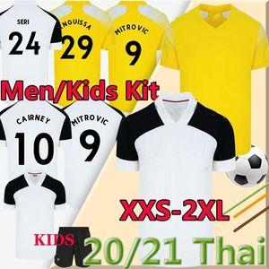 20 21 MITROVIC Cairney Soccer Jerseys 2020 2021 Knockert Seri Lemina Anguissa Casa Away Yellow Men Kit Kit Kit Camicie da calcio Uniforme