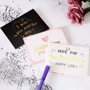 Popular gold greeting card marble line Valentine's Day gift to send customers small gift personalized small card