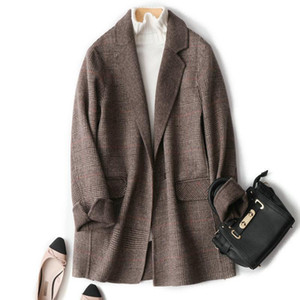 Mozuleva 2020 New High Quality Double Sided Cashmere Coat Casual Soft Style Woolen Women's Coat for Winter 95% Wool
