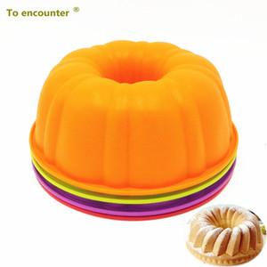 Para encontrar 25 * 9 cm 205g colorido forma de abóbora 3d molde de silicone molde assando pratos de bolo diy ferramentas de cozimento para bakeware t200111