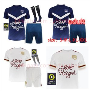 Alta Qualidade Men's Infants Suit 20 21 Girondins de Bordeaux Futebol Terno Maillot de Pé 2020 Bordeaux Marca S.Kalu Kamano Benito Basic