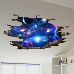 [Shijuekongjian] Universo Galaxy 3D pegatinas de pared DIY del espacio exterior vía láctea decoración de la pared para los niños habitaciones Decoración Suelo Techo