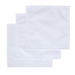 30 * 30CM Sublimation Kerchief Transferência Térmica Plain White Impresso lenço de toalha Unisex Viagem portátil F102303 Toalha lavável washrag Mão
