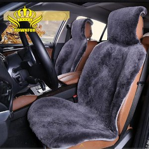 AUTOCROWN Natural sheepskin wool luxury Car Seat Covers universal size for all types of seats short 3 color 2020 new