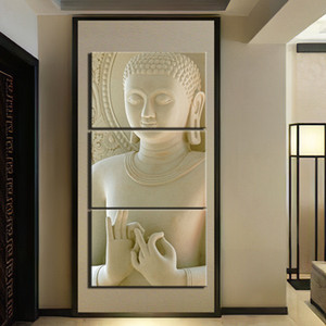 3 Pieces Abstract Marble Buddha Picture Decoration Home Wall Art Posters And Prints Picture Giclee Artwork Painting