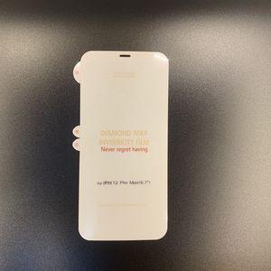 Yumuşak hidrojel filmi ekran koruyucu iphone 12 mini 11 pro max x xs xr 8 7 6 s artı hiçbir paket