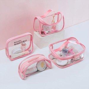 Cosmetic Bag Women Waterproof Transparent PVC Make Up Travel Clear Makeup Beauty Case Wash Organizer Bath Toiletry Storage Kit