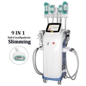 9 em 1 Cryo Lipolysis Cavitação Ultrassônica Rádio Frequência 360 Slimming Anti Celulite Tratamento Cool Cryo Lipo Laser Perda de peso