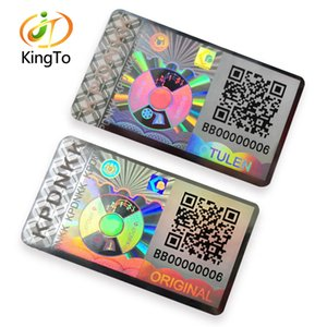 3D Custom QR Code Serial Number Hologram Sticker   Holographic Tamper Evident Security Label