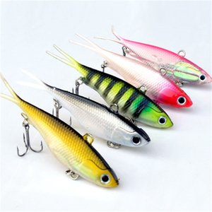 5Pcs Fishing Lures 95mm 20g Soft Vibe Lures Soft Plastics Jig Head Bait 201112