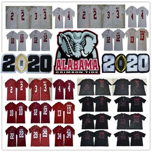 2020 play off NCAA Alabama Crimson Tide College Football 20 Tua Tagovailoa Jersey Jerry Jeudy Damien Najee Harris Jalen Hurts