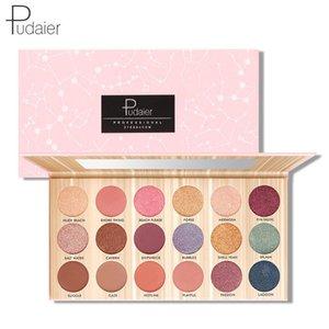 Eyeshadow Palette 18 Color Glitter Matte Pigment Shimmer Eye Shadow Makeup Tool Waterproof Long Lasting Pigmented Eyeshadow