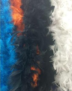 Boas de plumas blancas Turquía Pluma Boa grande Chandelle Marabou Feather Boa Ceremonia de boda Boas Blanco Pink Oran Jllgwx Yummy_shop