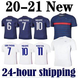 MAN 2020 2021 Griezmann Mbappé maillot de pie Francia fútbol Jersey KANTE Centenario Pogba camiseta de fútbol maillot de pie 20 21 ZIDANE